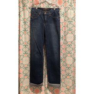 CRUEL GIRL Cuffed denim mid rise jeans